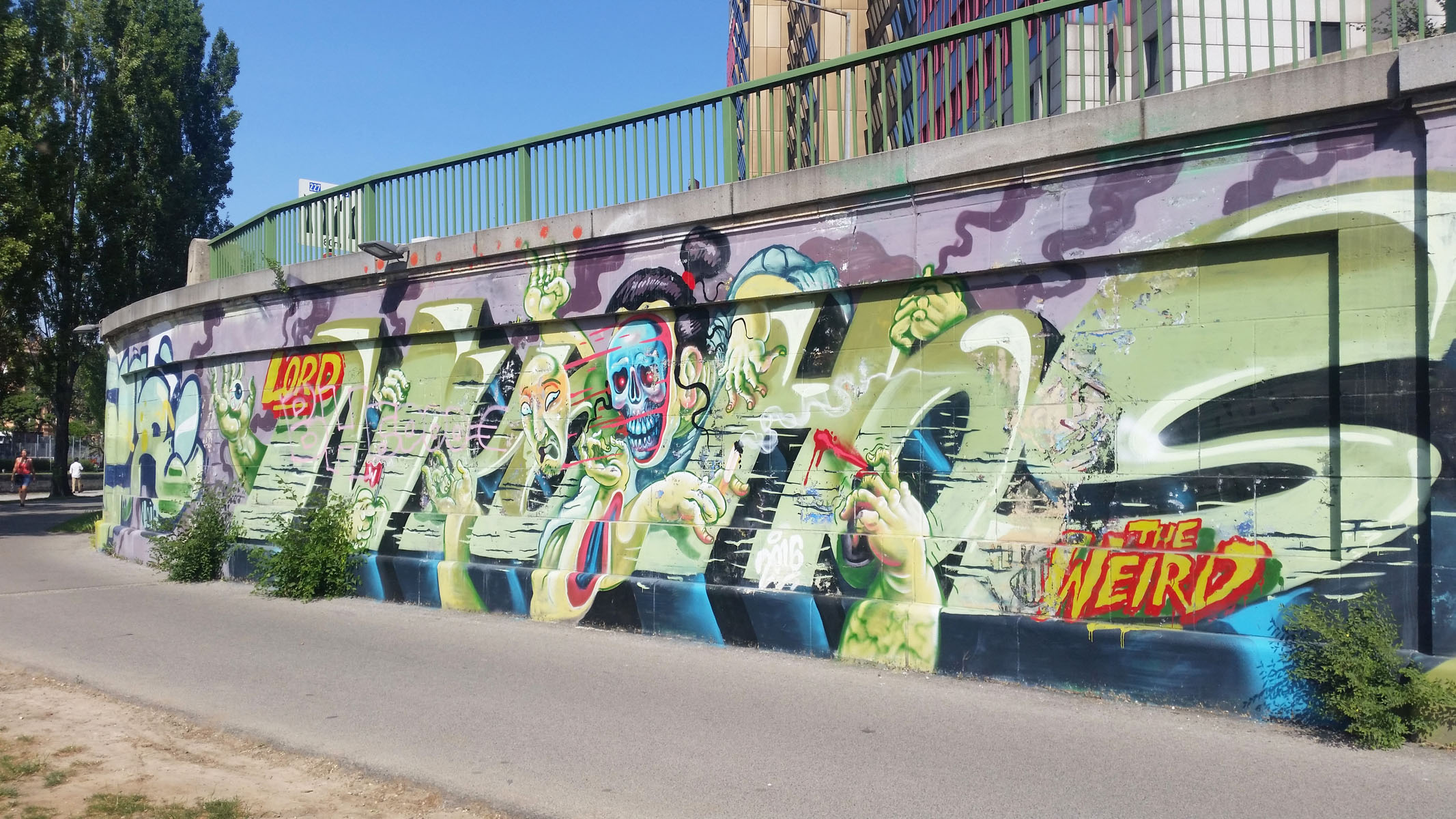 Arte urbana a Vienna, lungo il Dounakanal: Nychos