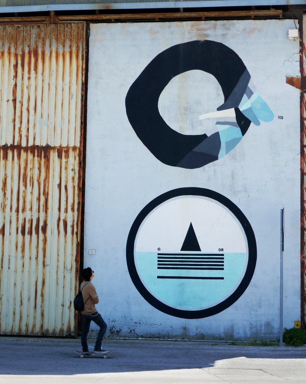 Vedo a Colori, Civitanova Marche: il muro di Giulio Vesprini con 108